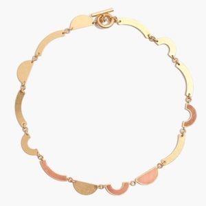 Madewell Concept Chocker Necklace Gold Pink Jade